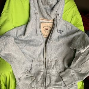 Hoodie Sweatshirt Zip Up Jacket Heavy Thermal